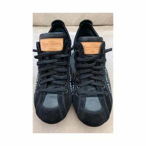 LOUIS VUITTON Nubuck and Leather Cosmos Sneaker